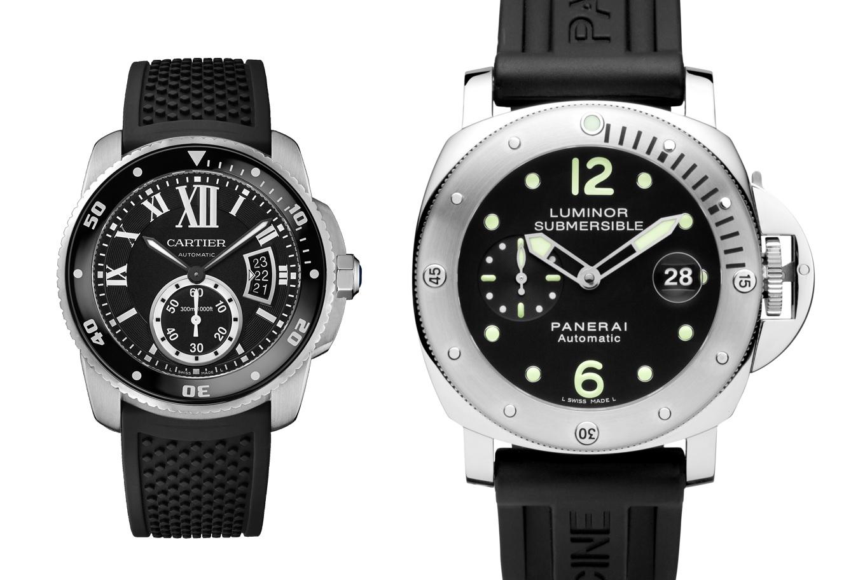Clash of the divers cartier calibre de cartier dive - Panerai dive watch ...