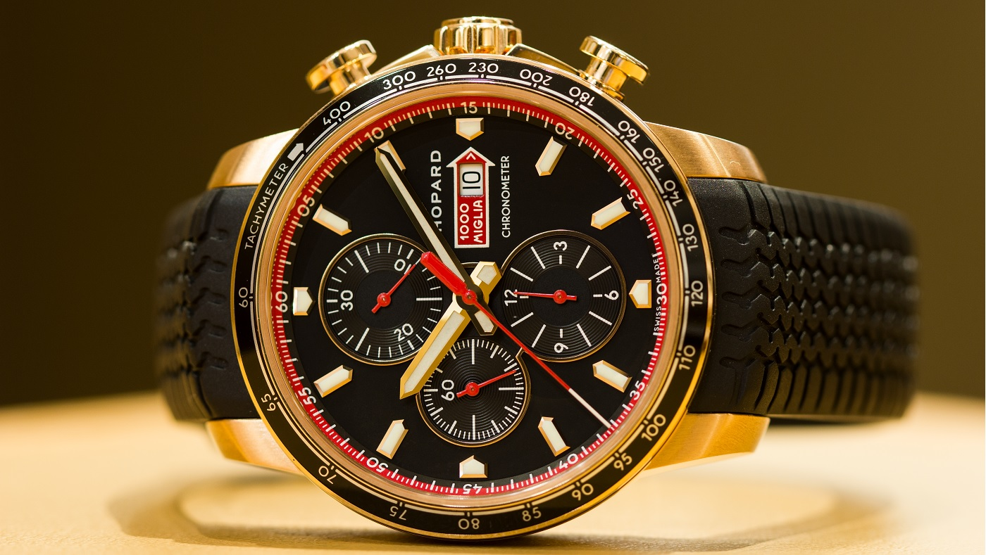 chopard mille miglia gts chrono rose gold watch hands on. Black Bedroom Furniture Sets. Home Design Ideas